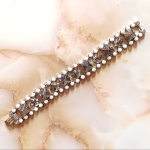 juicy couture white crystal silver stud bracelet